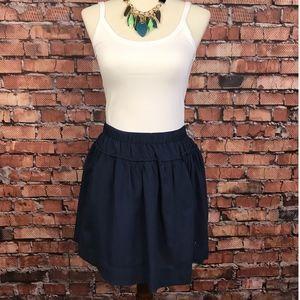 Abercrombie & Fitch Navy Mini Skirt Size Medium